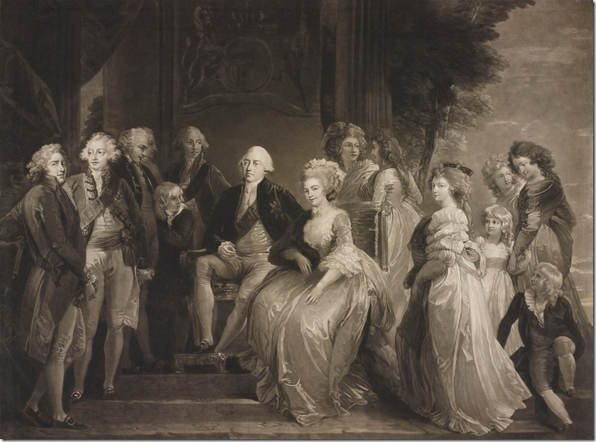 murphy_-_george_iii_and_queen_charlotte_with_their_thirteen_children