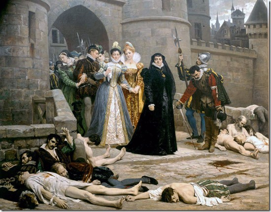 Day after St. Bartholomew's Day massacre by Debat-Ponsan