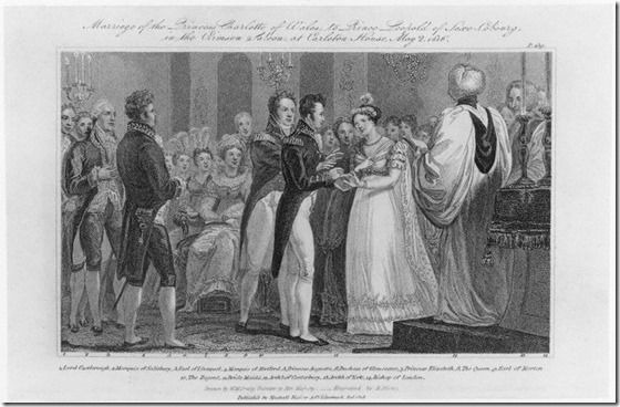 NPG D16053, 'Marriage of the Princess Charlotte of Wales to Prince Leopold of Saxe-Cobourg, in the Crimson Saloon, at Carleton House, May 2 1816'