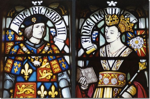 King_Richard_III_and_Queen_Anne stained glass cardiff castle