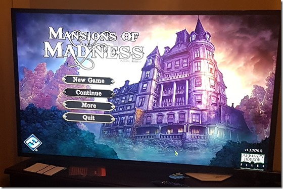 Mansions of madness on tv