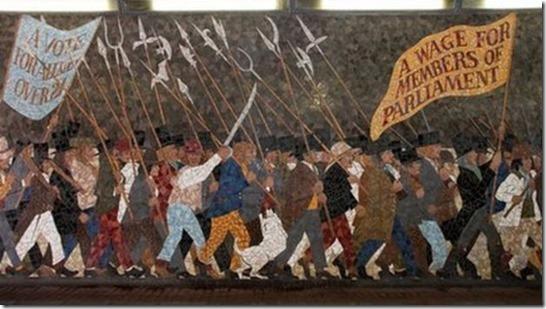 newport rising mural