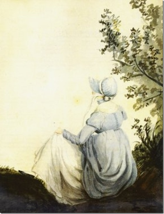 Jane Austen by Cassandra a Watercolour