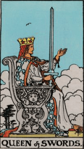 Queen of Swords tarot cards
