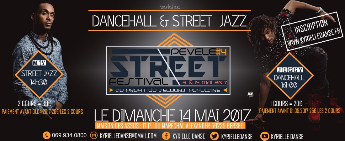 WORKSHOP DANCEHALL & STREET JAZZ AVEC JIGGY & M'Y