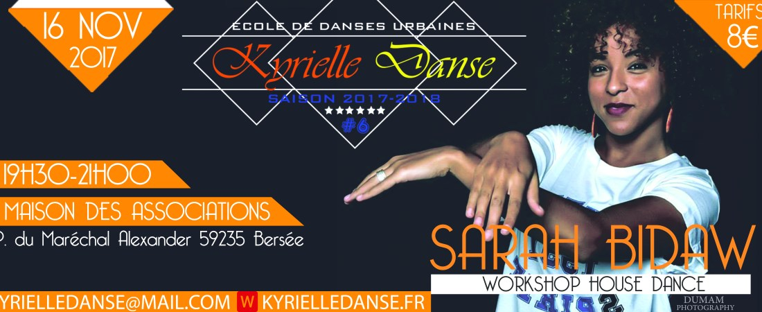 WORKSHOP HOUSE  DANCE AVEC SARAH BIDAW