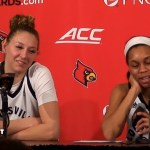 UofL WBB Kylee Shook & Asia Durr on WIN vs #15 Syracuse, now 21-1