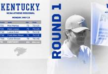 Mehles' Back Nine Lifts Kentucky on Day One at NCAA Regional