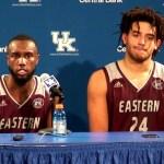 EKU Basketball Taylor & Moreno Postgame vs Kentucky