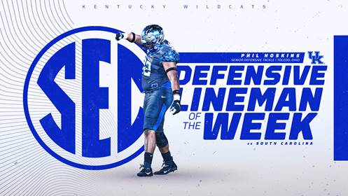 UK FB: Hoskins Named SEC Defensive Lineman of the Week
