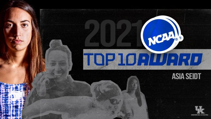 UK S&D: Not Done Yet: Seidt Named a 2021 NCAA Top 10 Honoree