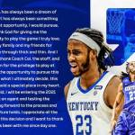 UK MBB: Jackson to Declare for NBA Draft; Eligible to Return