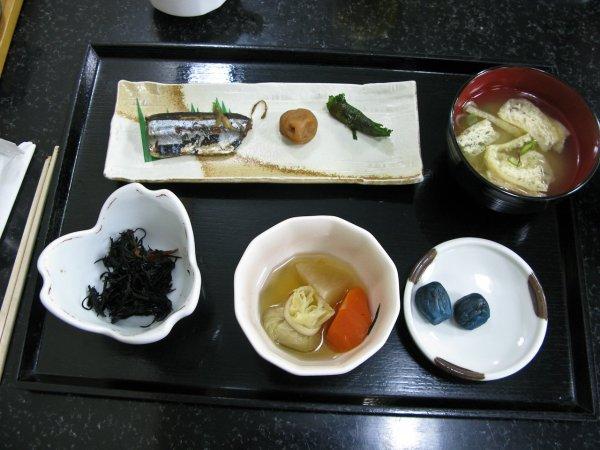 Breakfast in Sapporo Ryokan