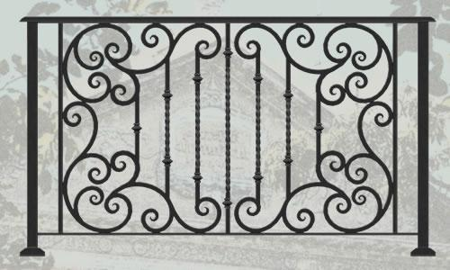 Эскиз для ковки забора, ограды № 14   заборы, ограды ...