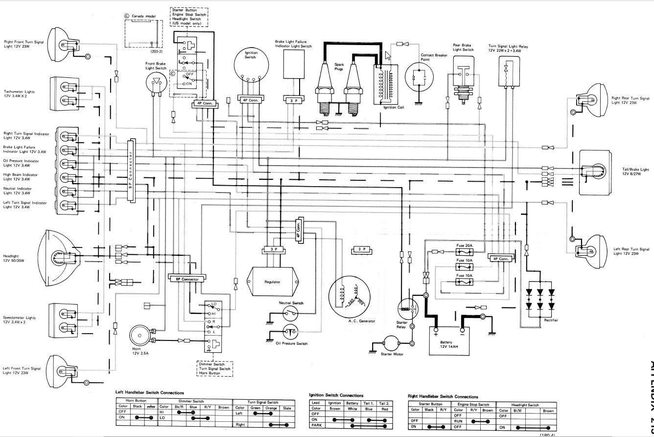 Kz750 Twin Wiring Problems Please Help