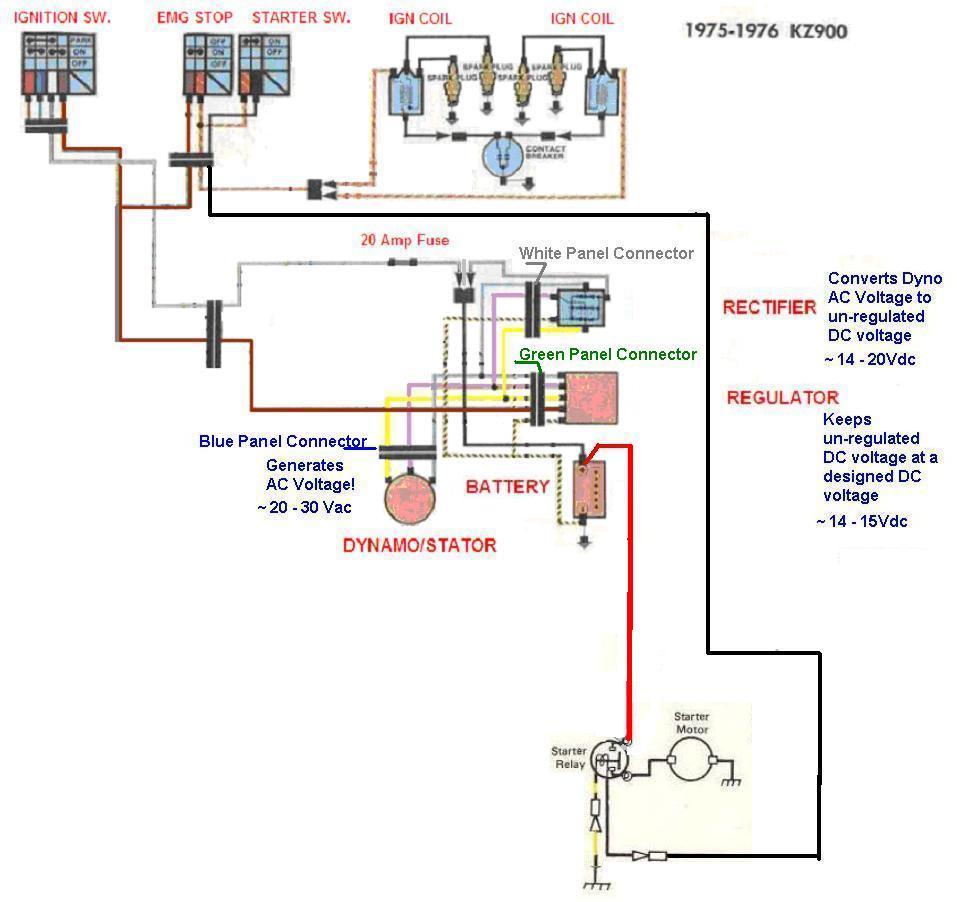 kz1000 fuse diagram wiring diagram library Yamaha DT 175 Wiring-Diagram