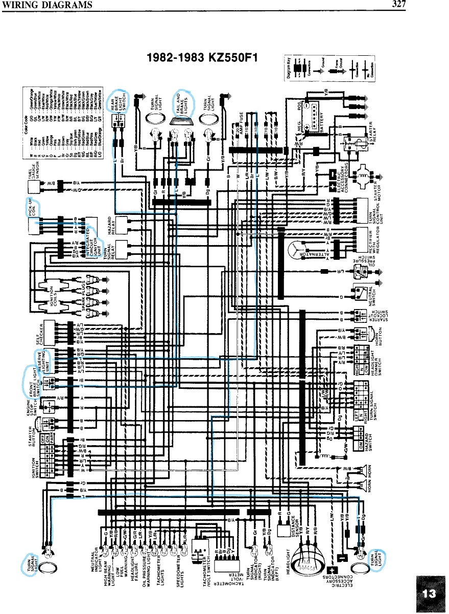 Kz400 Wiring Diagram Explained Diagrams 1976 Schematic 1977 Kawasaki Trusted 1979 Ford F 250