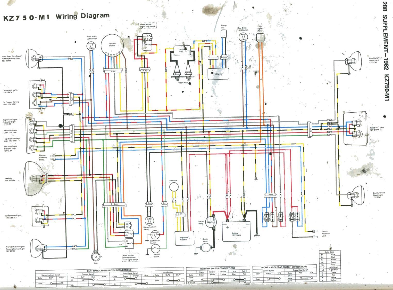 KawKz750M1_82_CsrTwin?resize\\=665%2C490\\&ssl\\=1 100 [ 2002 virago 250 manual ] ignition switch lock u0026 fuel yamaha virago 250 wiring diagram at crackthecode.co