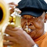 Hugh Masekela! Legendary South African trumpeteer. His music is great.