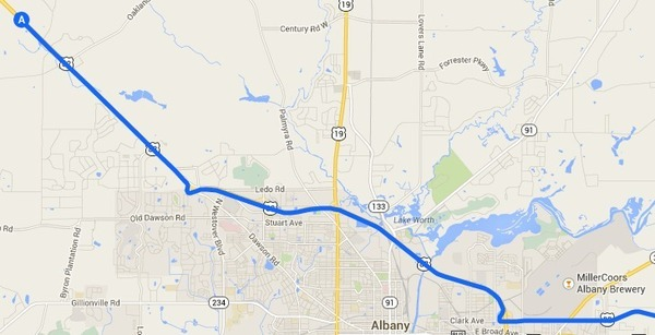 600x307 Armena through Miller-Coors Albany Brewery, in Alternative 2: Armena to US 82 to I-75 to FL Turnpike, FERC to Sabal Trail, by John S. Quarterman, 14 September 2014