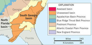 300x149 South Georgia and North Florida Basins Map, in Shale gas basins in South Georgia and north Florida, by USGS, 4 June 2012