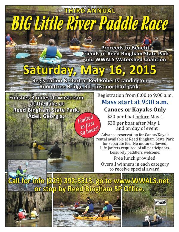 600x776 Poster, in BIG Little River Paddle Race (Third Annual), by WWALS, 16 May 2015