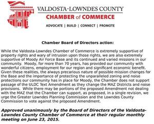 300x243 MAZ resolution --VLCoC, in Chamber goes to bat for Moody, by Valdosta-Lowndes Chamber of Commerce, 26 June 2015