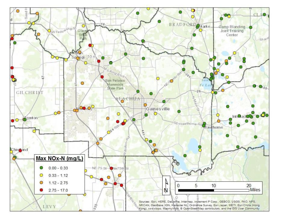 1056x816 FDEP drinking water Alachua-Gilchrist, in Requests comprehensive groundwater nitrate sampling in Alachua and Gilchrist Counties, by Florida Springs Institute, 28 August 2015