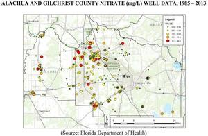 300x196 Alachua Gilchrist nitrate well data, in Requests comprehensive groundwater nitrate sampling in Alachua and Gilchrist Counties, by Florida Springs Institute, 28 August 2015