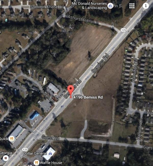 Center of three properties: 4196 Bemiss Rd.