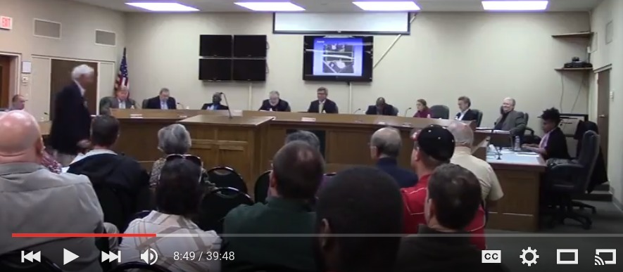 885x387 Glenn Gregory speaking, in Lack of site plan disconcerting and unacceptable, by Gretchen Quarterman, 25 January 2016