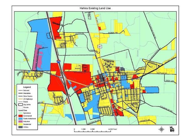 Hahira Existing Land Use Map