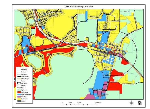 Lake Park Existing Land Use Map