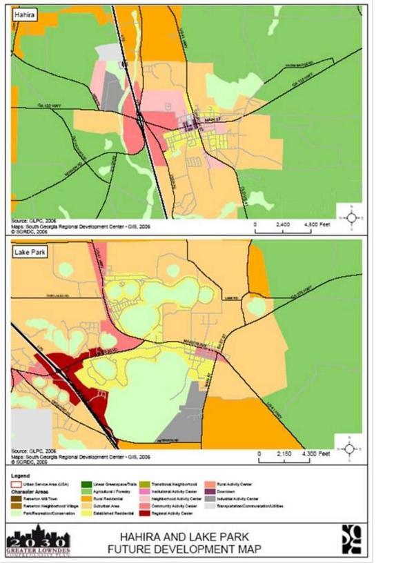 Hahira and Lake Park Future Development Map