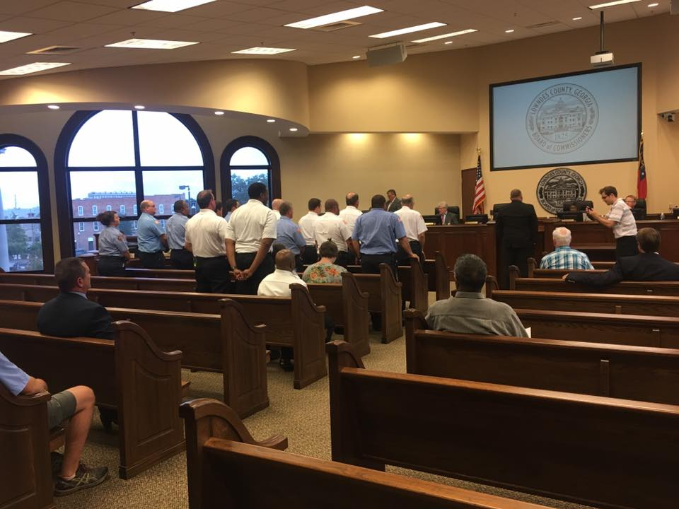 960x720 Facing audience, in Firefighters honored for West Mims Fire, by John S. Quarterman, 8 August 2017