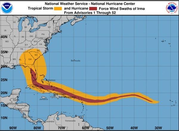 Irma Wind Swaths