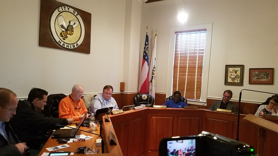 2560x1440 Clear view, City Council, in Hahira Work Session, by John S. Quarterman, 30 January 2018