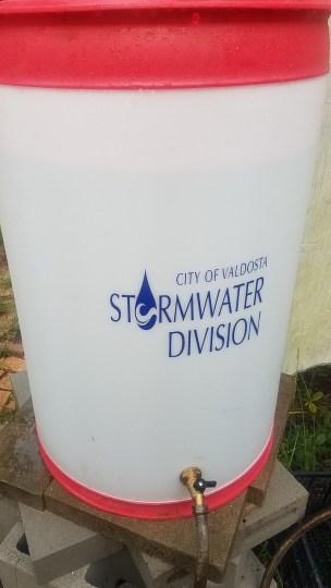 720x1280 City of Valdosta Stormwater Division, Raining, in Rainbarrel from Valdosta Stormwater, by John S. Quarterman, 20 July 2018