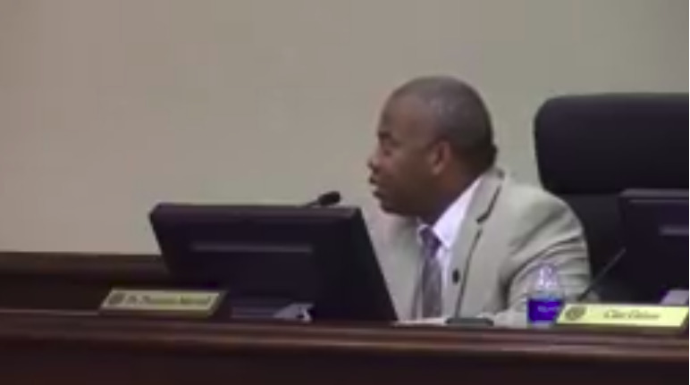 772x431 Demarcus Marshall, LCC 2018-09-11, in Backroom zoning discussions, Lowndes County Commission, by John S. Quarterman, 11 September 2018