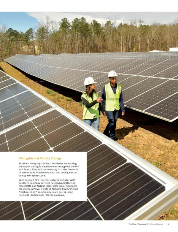 Microgrids and batteries, Annual Report