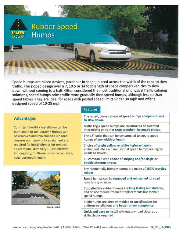 Traffic Logix Rubber Speed Humps