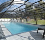 Abri piscine rideau collection Elliptik