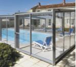 Triptik : abri de piscine rideau