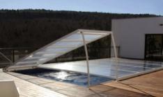 Abri de piscine plat amovible d'Azenco