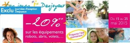 Promotion sur les abris piscine Desjoyaux