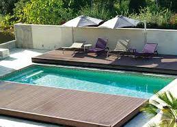 Terrasse mobile de piscine en bois