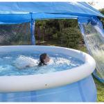 abri souple piscine hors sol