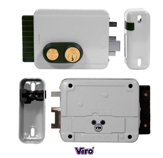 serrure electrique block out entraxe reglable de 50 a 80mm avec bouton poussoir