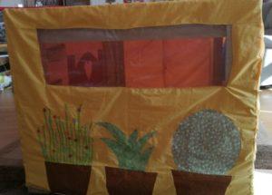 nappe roulotte plantes