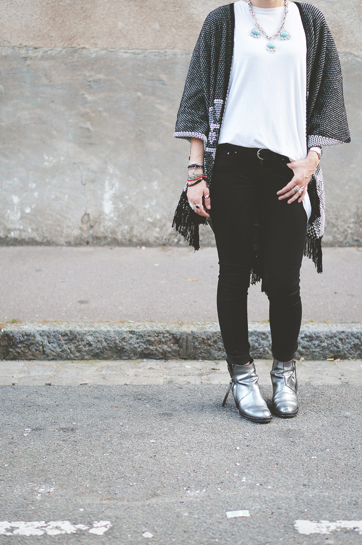 2_look_blog_mode_poncho_new_look_jean_slim_levis_boots_acne_pistol_silver